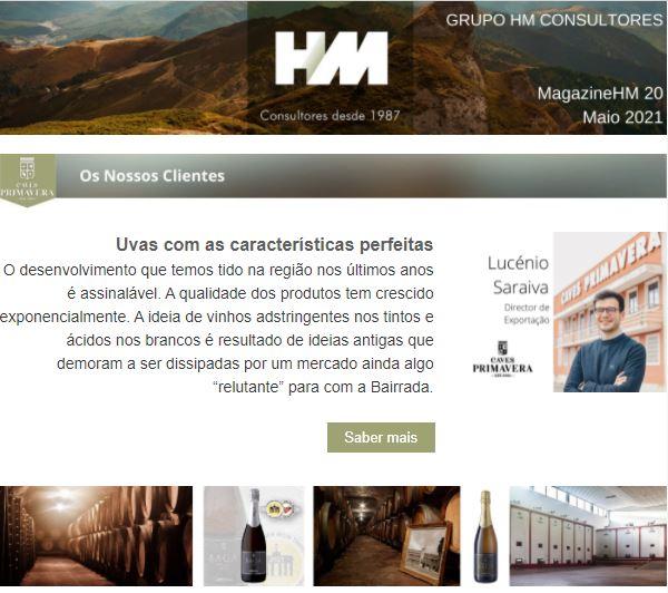 Inovação Produtiva Portugal 2020 Consultoria HM Consultores newsletter
